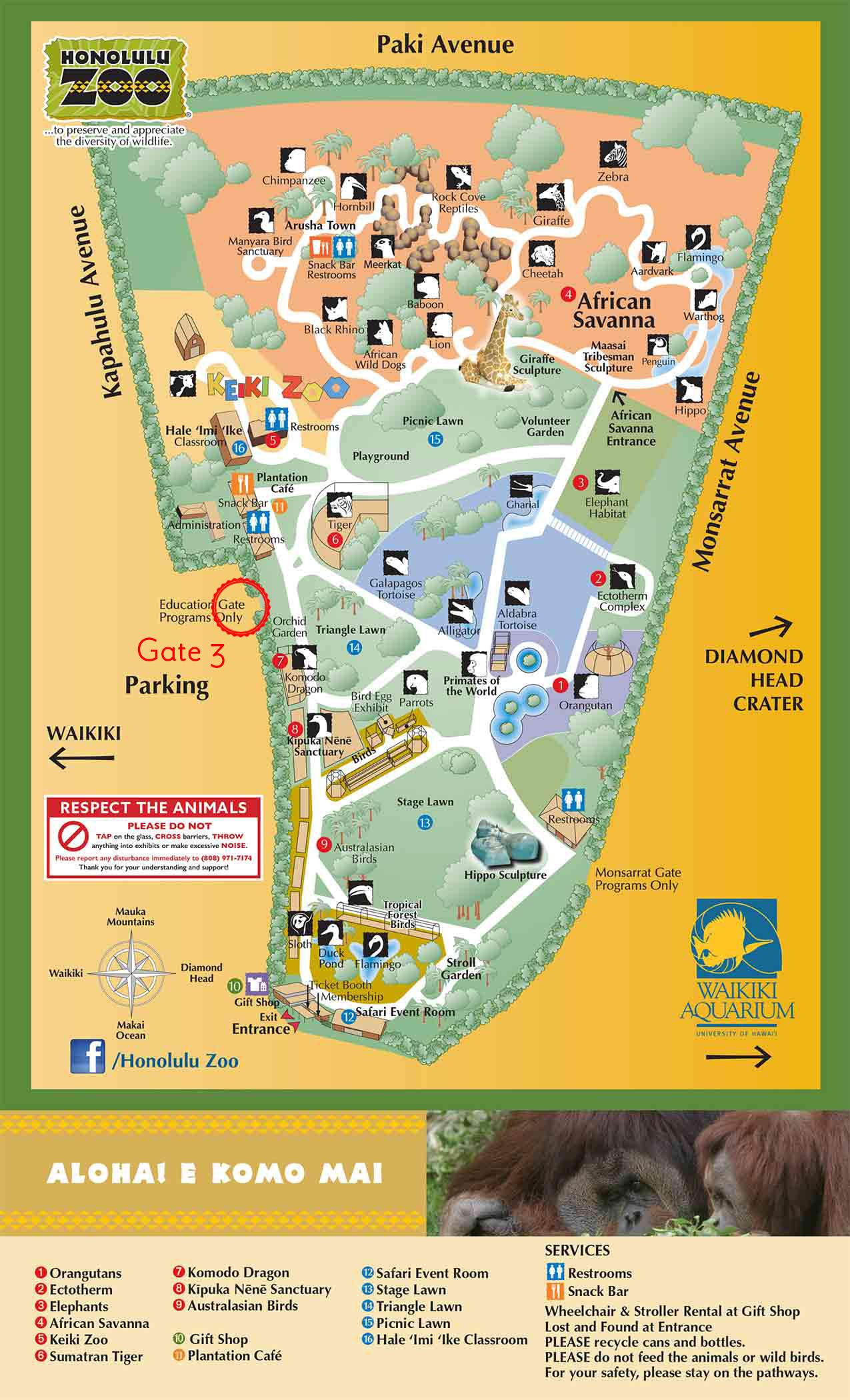 honolulu-zoo-map
